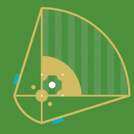 image design of the baseball field photo