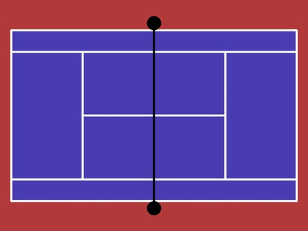 synthetic court: image model of the tennis court