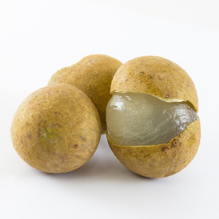 the image of the longan on a white background photo