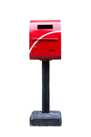 the image of the red mailbox isolated photo