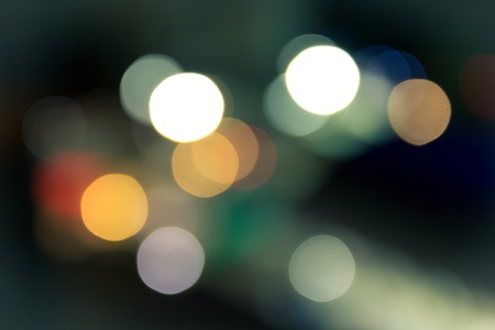 the image of bokeh light in the dark night photo