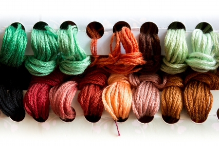 the yarn for Cross Stitch work photo
