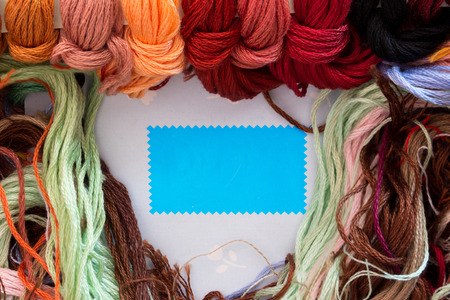 the yarn for Cross Stitch work