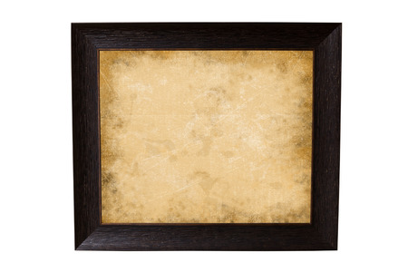 the old paper in a picture frame photo