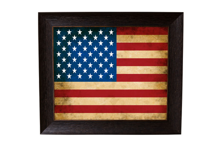 the American flag in a picture frame photo