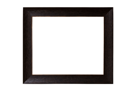 the picture frame on white background photo