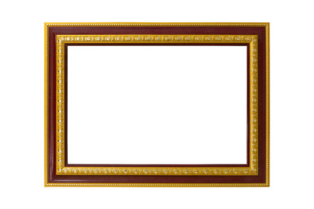 the picture frame on white background Stock Photo