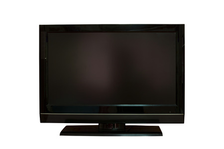 the LCD television screen
