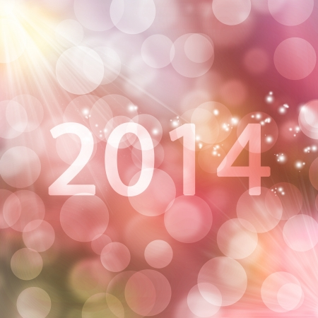 texture, abstract background is colorful bokeh light for happy new year day in 2014, christmas and other event photo