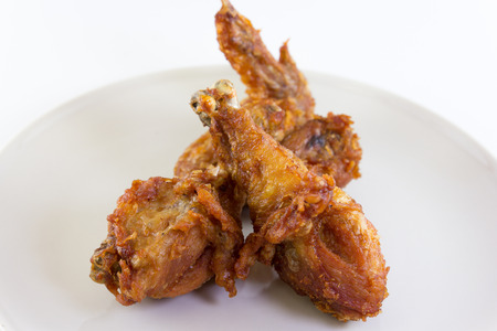 food image of fried chicken is leg and wing photo