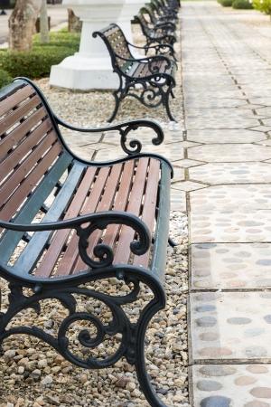 公共のベンチのためのビンテージ スタイル リラックス公園では、秋のシーズン