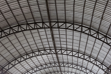 the steel frame of roof is nice architecture photo