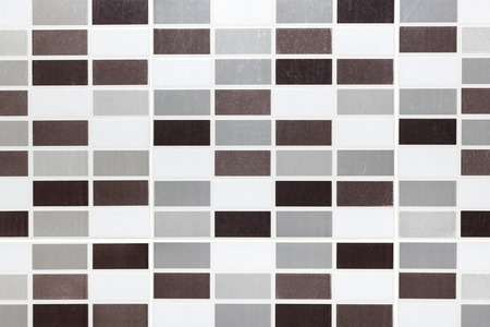 texture, background of the white tile on the wall is mosaic pattern in the bathroom photo
