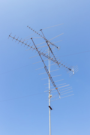 the antenna Yagi on the blue sky photo