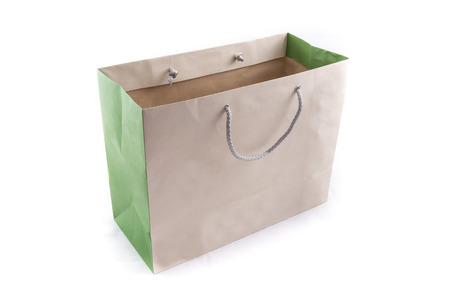 De Papieren Zak : De geïsoleerde van de bruine papieren zak om te winkelen op een