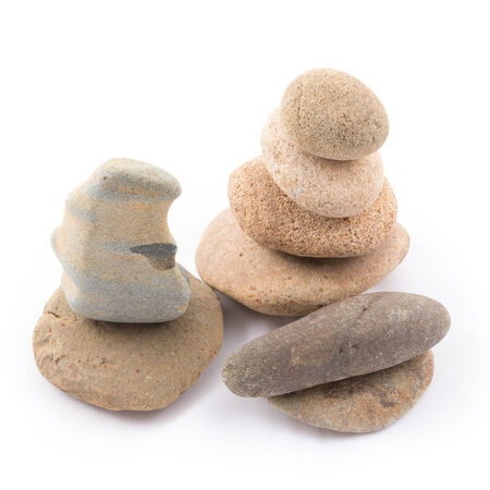 the isolated of the balance stones is zen for spa on white background photo