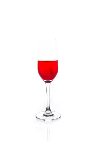 the isolated of the wine glass is still on white background