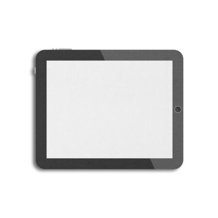 the paper cut of black tablet with blank screen is touchscreen computer for modern mobile technology photo