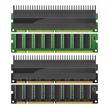 the isolated paper cut of ram with heat sink is memory technology in computer for storage to data and access to information photo