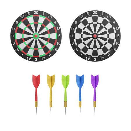 cut the competition: the paper cut of dartboard with target icon is isolated for competition and leisure on white