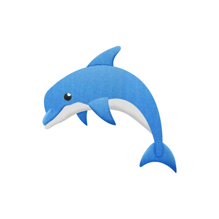 the dolphin cartoon is fish in underwater to sea Stock Photo