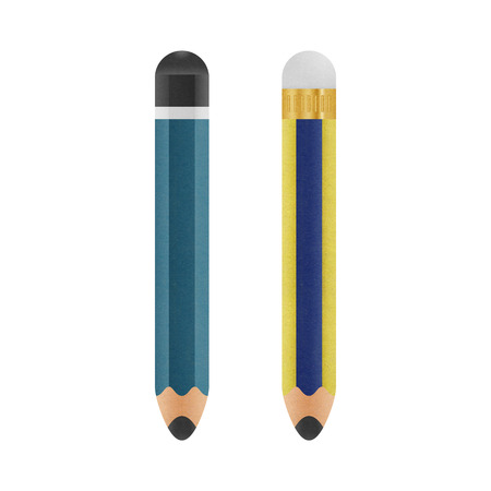 the pencil is cute cartoon illustration isolated icon on a white background of paper cut illustration