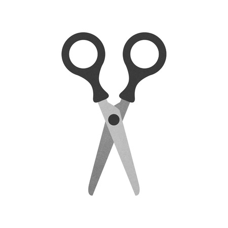 the scissors isolated is tool icon on a white background of illustration paper cut  illustration