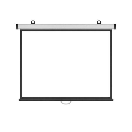 het lege projectiescherm geïsoleerd voor de presentatie in het bedrijfsleven papier illustratie