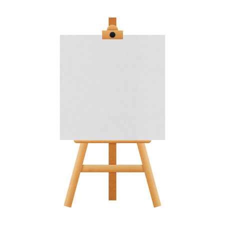the easel stand isolated for paintings in exhibition of paper illustration illustration