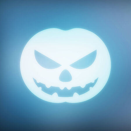 texture, abstract background is blue pumpkin bokeh light is colorful for halloween day photo
