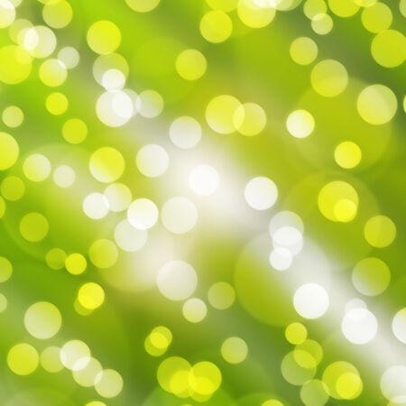 テクスチャ、背景は緑ピンぼけ光はカラフルな新年あけましておめでとうございますの日、クリスマス、その他のイベント。