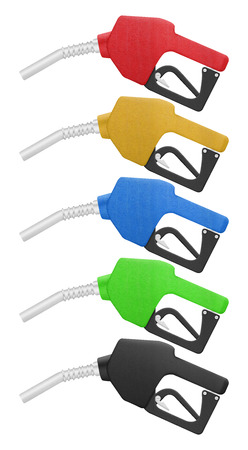 Fuel Nozzle for Gas Station is Paper Cut Design Stock Photo