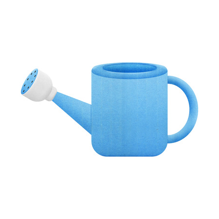 Watering Can Cartoon for Gardening is Paper Cut Design