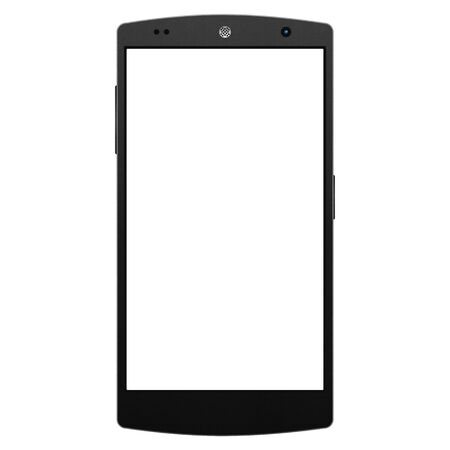 the Smartphone for Social Network in Internet with Digital Technology Mobile of Illustration