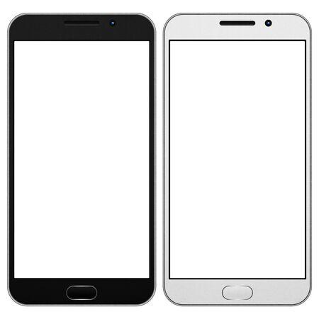 イラストのデジタル テクノロジーの携帯電話でインターネットの社会的ネットワークのスマート フォン