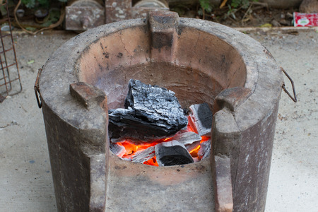 firebox: Brazier old oven for cook food