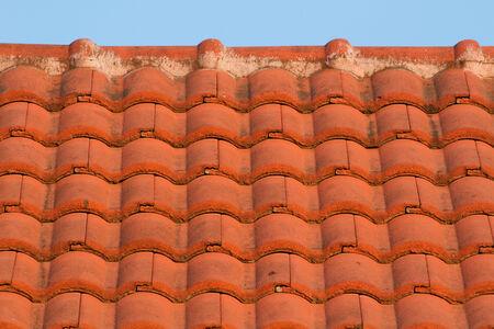 rooftile: Red tegola in serata Archivio Fotografico