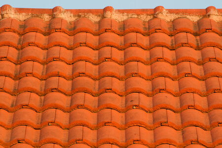 rooftile: Red roof-tile in evening