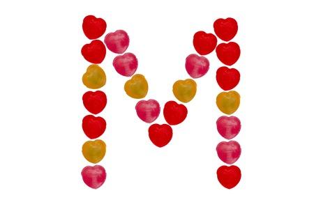 Heart candy character make alphabet