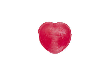 sugarplum: Heart candy macro isolate on white blackground Stock Photo