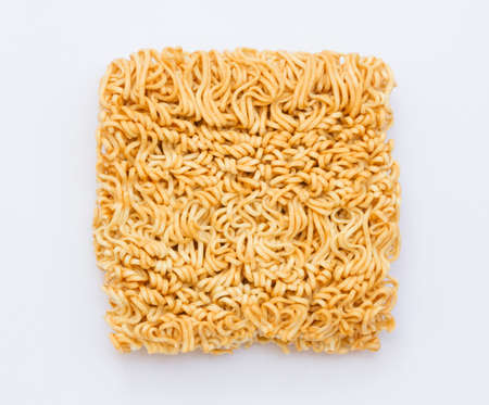 the instant noodles: instant noodles on white background