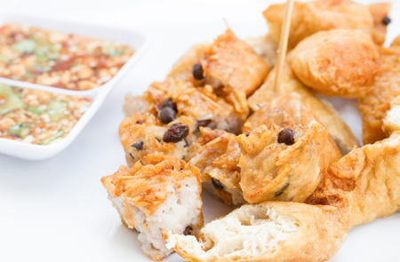 bean curd: Fried Taro and Black Beans and bean curd is snack
