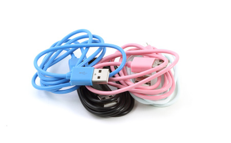 sync: Micro USB Data Charging Sync Cable on white background