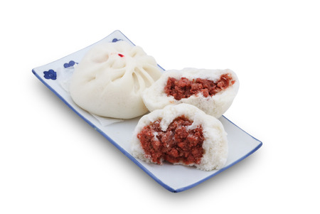 stuff: Steamed stuff bun with minced pork,Chinese Bun