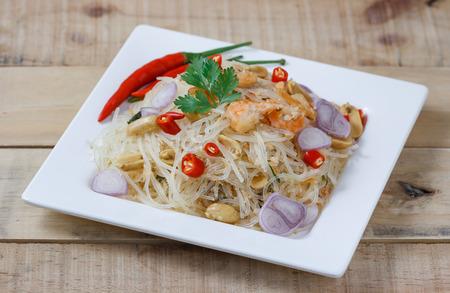 Thai food,Mung Bean Noodle Spicy Salad,select focus.