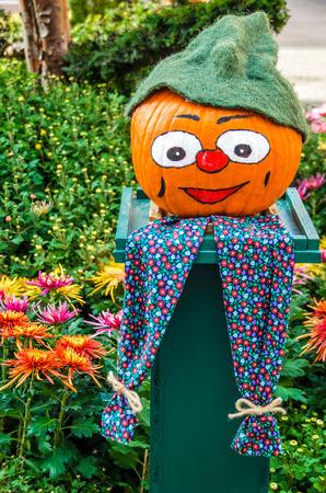 one of a kind: Halloween pumpkin Stock Photo