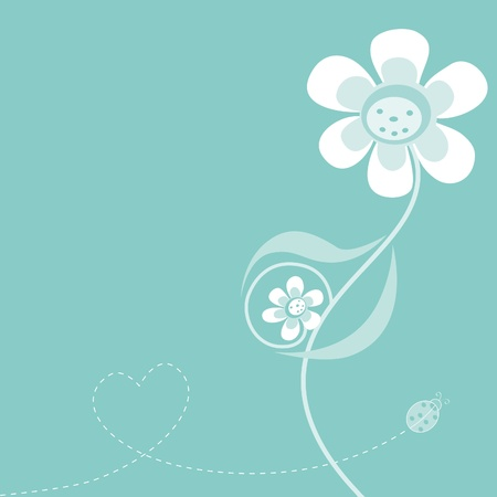 Expecting mother-flower - baby boy Illustration