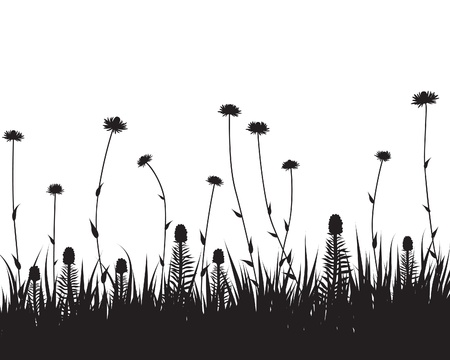 Grass silhouette Illustration