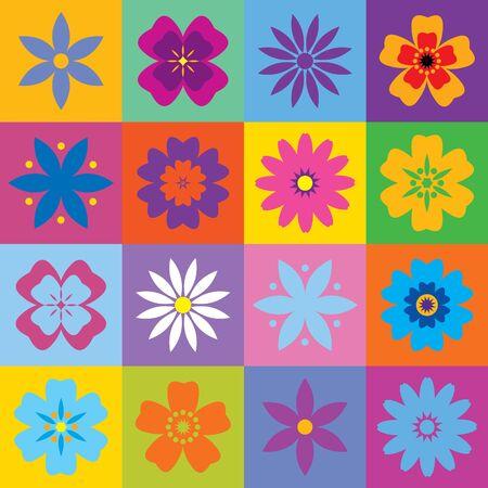 мак: Набор из 16 цветов значков