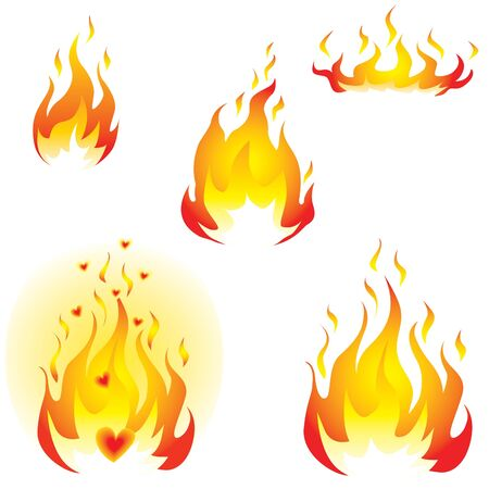 Flames Stock Vector - 10203156